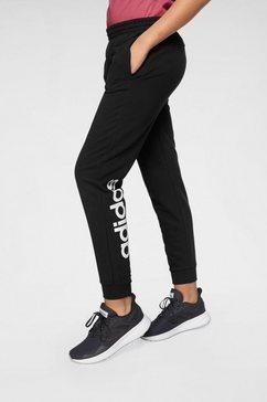 adidas performance trainingsbroek »linear« zwart