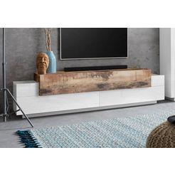 tecnos tv-meubel coro breedte 200 cm beige