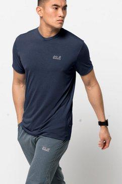 jack wolfskin t-shirt »jwp t m« blauw