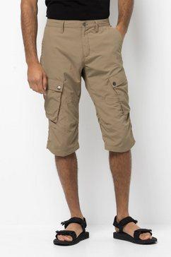 jack wolfskin driekwartbroek »desert valley 3-4 pants m« beige