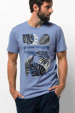 jack wolfskin t-shirt »palm cove t m« blauw