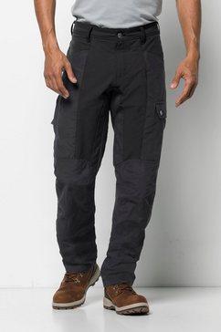 jack wolfskin cargobroek »dawson flex pants m« grijs