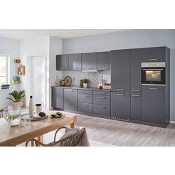held moebel keukenblok met elektrische apparaten grijs