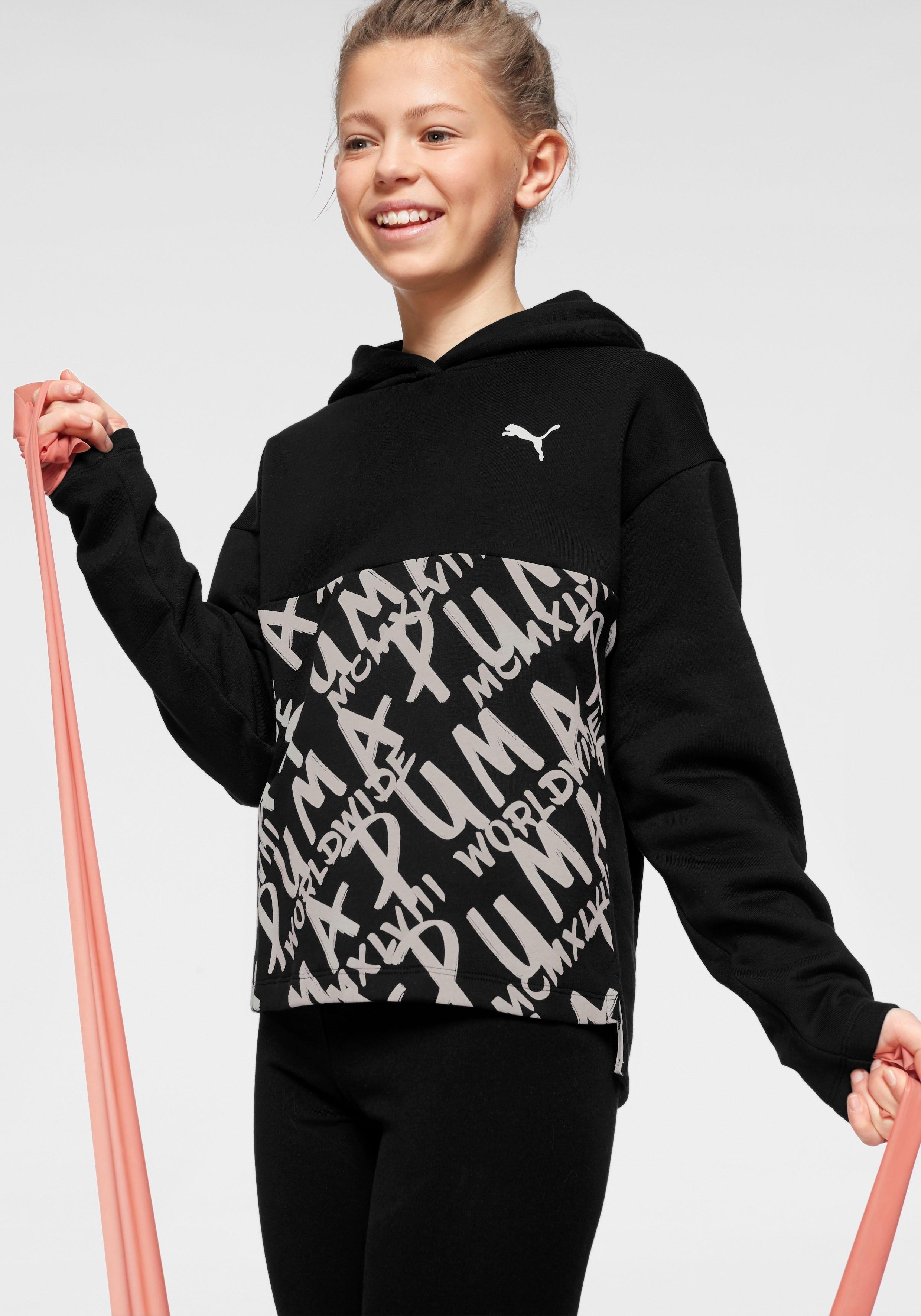 Puma hoodie »ALPHA FLEECE HOODY GIRLS« nu online bestellen