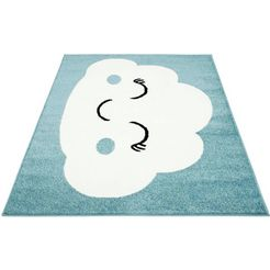 vloerkleed voor de kinderkamer, »bubble kids 1324«, carpet city, rechthoekig, hoogte 11 mm blauw