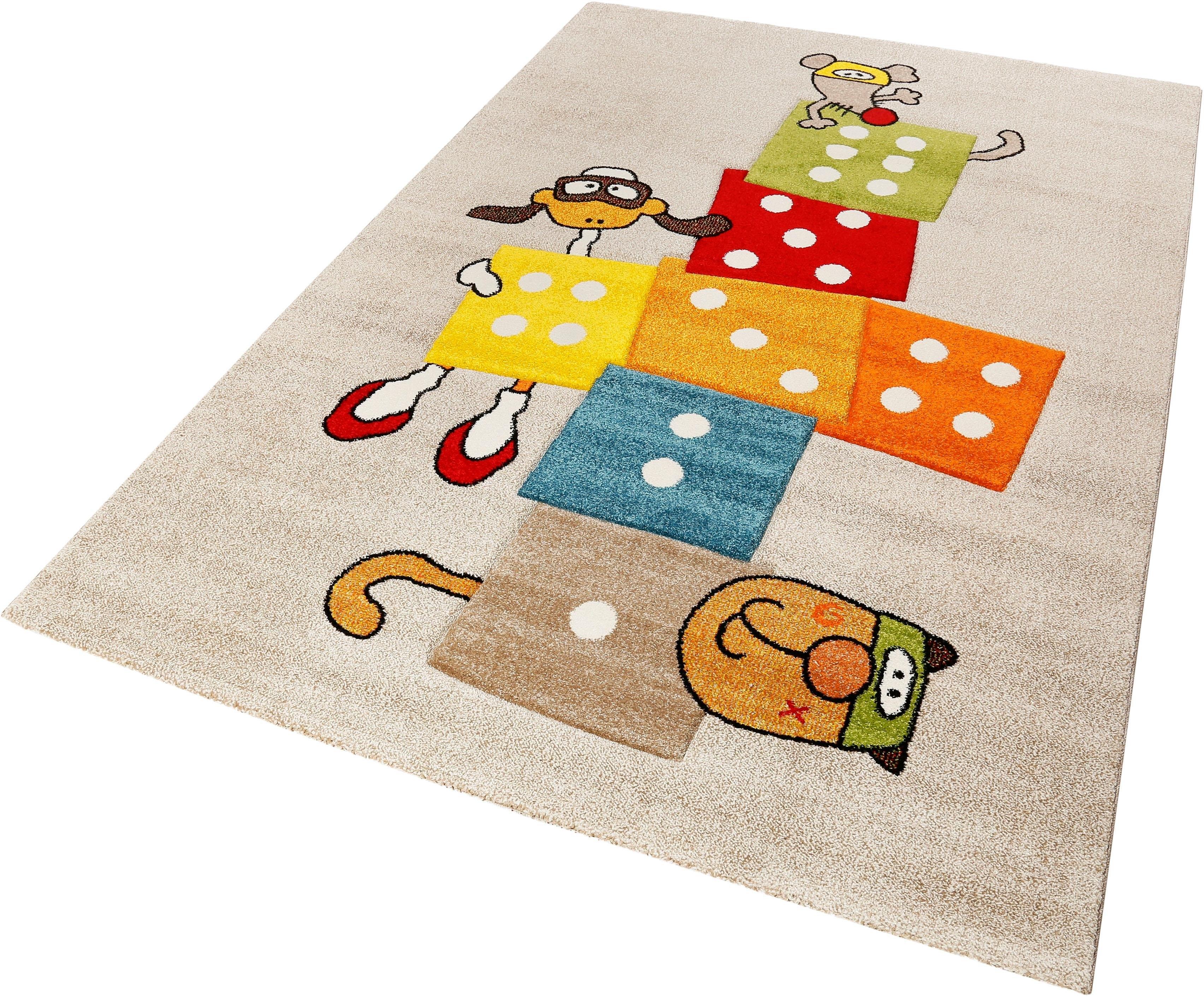 Sigikid Vloerkleed voor de kinderkamer, »Bandidoleros«, rechthoekig, H 13 mm, machinaal geweven voordelig en veilig online kopen