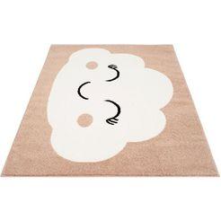 vloerkleed voor de kinderkamer, »bubble kids 1324«, carpet city, rechthoekig, hoogte 11 mm beige