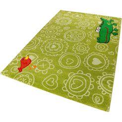 vloerkleed voor de kinderkamer, »crocodile«, sigikid, rechthoekig, hoogte 13 mm, machinaal geweven groen