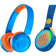 jbl »jr300bt + pop« on-ear-hoofdtelefoon (bluetooth) blauw