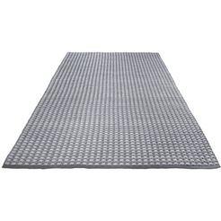 vloerkleed, »finn«, wohnidee, rechthoekig, hoogte 12 mm, met de hand geweven grijs