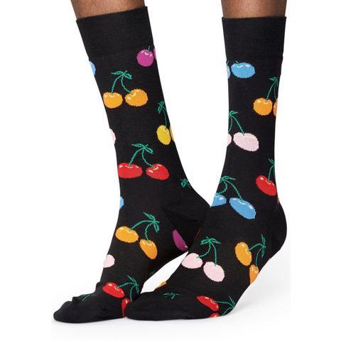 Happy Socks-Sokken-Socks Cherry-Zwart