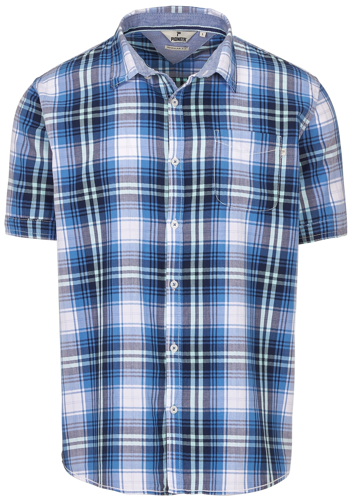 Heren Overhemd Blauw.Pioneer Herenoverhemd Herenoverhemd Shirt Online Bij Otto