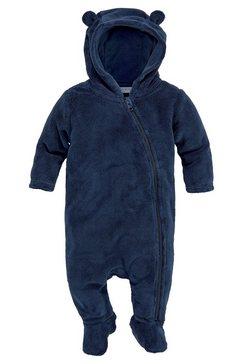 klitzeklein teddy-jumpsuit met voet blauw