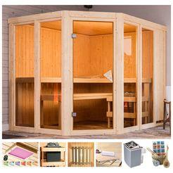 karibu sauna »melody«, 231x196x198 cm beige