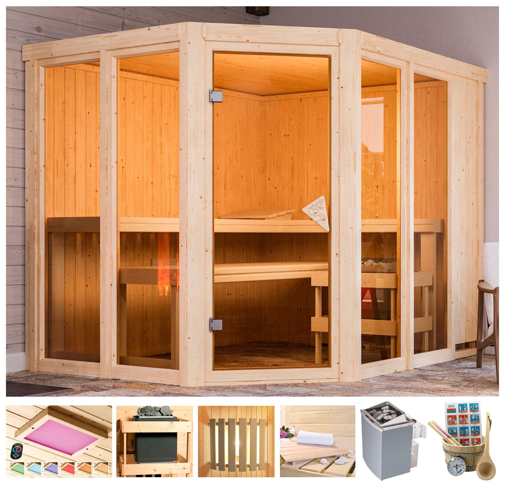 Karibu sauna »Melody«, 231x196x198 cm online kopen op otto.nl