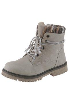 city walk hoge schoenen met vetersluiting grijs