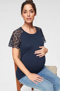 neun monate zwangerschapsshirt blauw