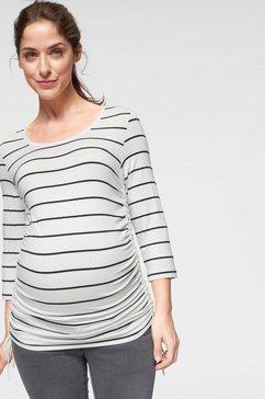 neun monate zwangerschapsshirt met aanrimpeling wit