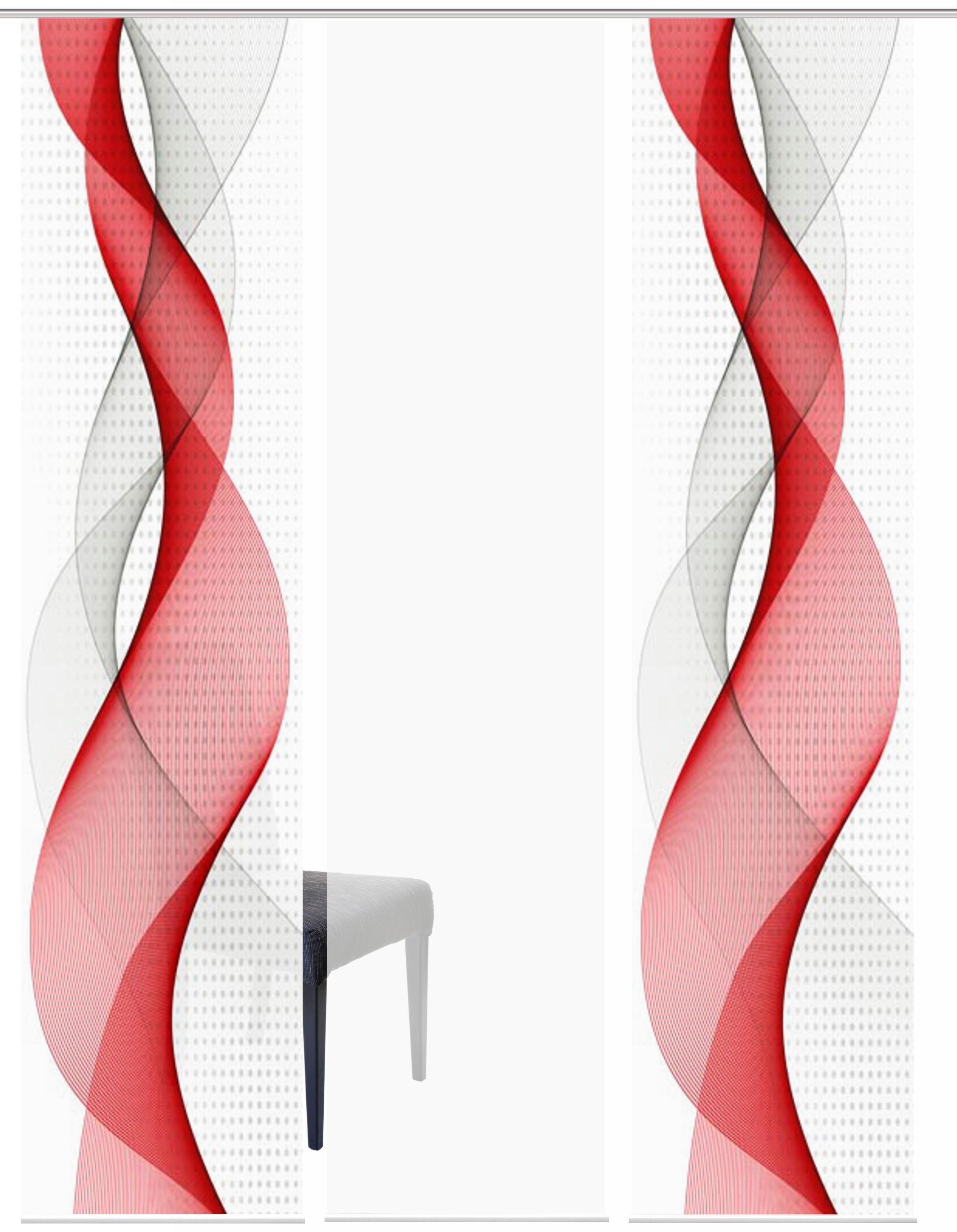 HOME WOHNIDEEN paneelgordijn OPALIA SET VAN 3 HxB: 245x60 (3 stuks) in de webshop van OTTO kopen