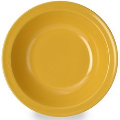waca diep bord (set van 4) geel