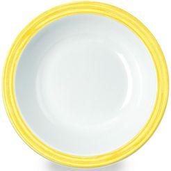waca diep bord 'bistro' (set van 4) geel