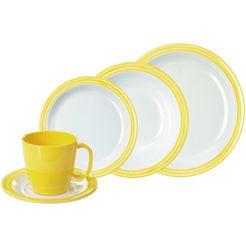 waca combi-servies 'bistro' (10-delig) geel