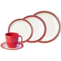 waca combi-servies 'bistro' (10-delig) rood