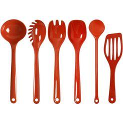 waca set keukengerei, (5-delig) rood