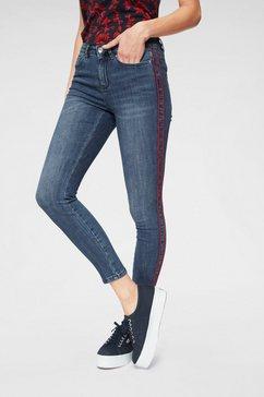 vero moda skinny fit jeans »seven piping« blauw