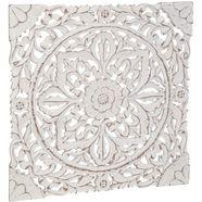 schneider sierobject voor aan de wand houten ornamentmotieven wanddecoratie, ornament, wit wit