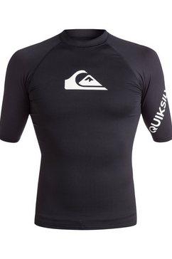 quiksilver - all time - rash vest met korte mouwen en upf 50 voor heren zwart