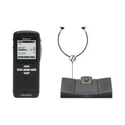 grundig digitale dictafoon-set »digta 7 starter-kit« zwart