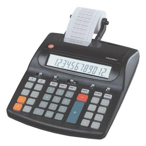 Bureaurekenmachine Triumph Adler 4212 PD Zwart Aantal displayposities: 12 werkt op het lichtnet
