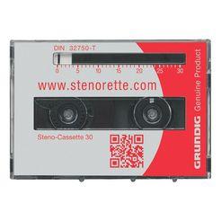grundig pak van 5 stenocassettes »30« multicolor