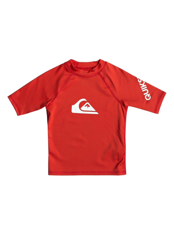 Quiksilver - All Time - Rash Vest met Korte Mouwen en UPF 50 voor Jongens 2-7 nu online kopen bij OTTO