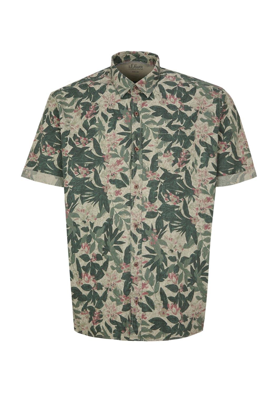 Met Tropische Print Bestellen S Overhemd RegularDenim oliver Label Online Red IyYfb7gv6