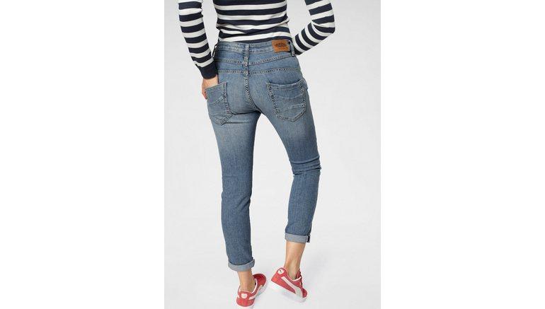 Please Jeans 5-pocketsjeans P78A casual boyfriend jeans in lichte krinkel-look, met omslag aan de pijpen