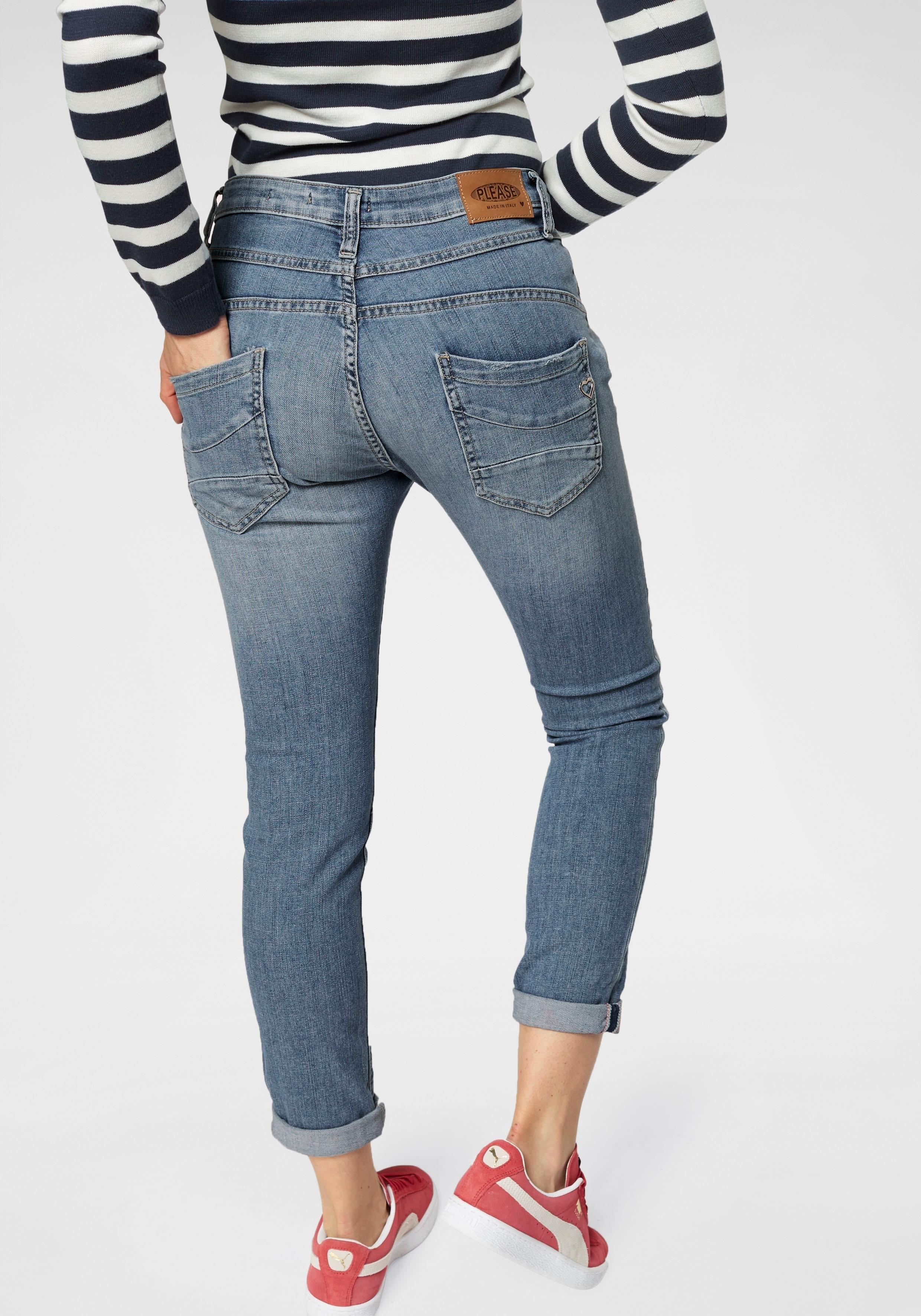 Please Jeans 5-pocketsjeans P78A casual boyfriend jeans in lichte krinkel-look, met omslag aan de pijpen nu online kopen bij OTTO