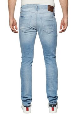 tommy jeans tapered fit jeans »slim tapered austin« blauw