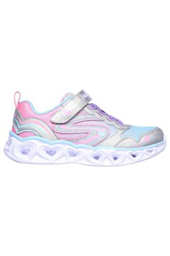 skechers kids sneakers »heart lights« zilver