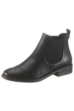 tamaris chelsea-boots zwart