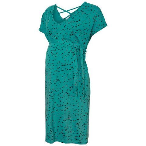 Mama Licious Bedrukte jersey Zwangerschapsjurk blauw