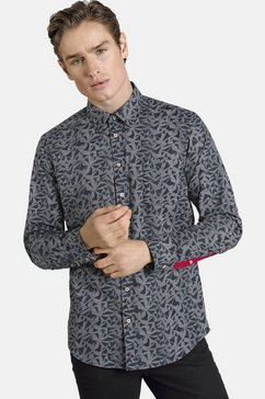 shirtmaster overhemd met lange mouwen â»blackteaâ« zwart
