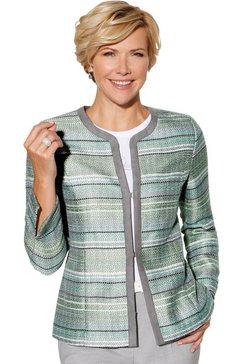 classic blazer in gedessineerde bouclékwaliteit grijs