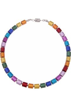 leslii collier »premium quality cilinder-mix multicolour, 210115039« multicolor
