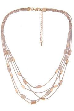 leslii collier »glasstenen in gold beige, 210117020« goud