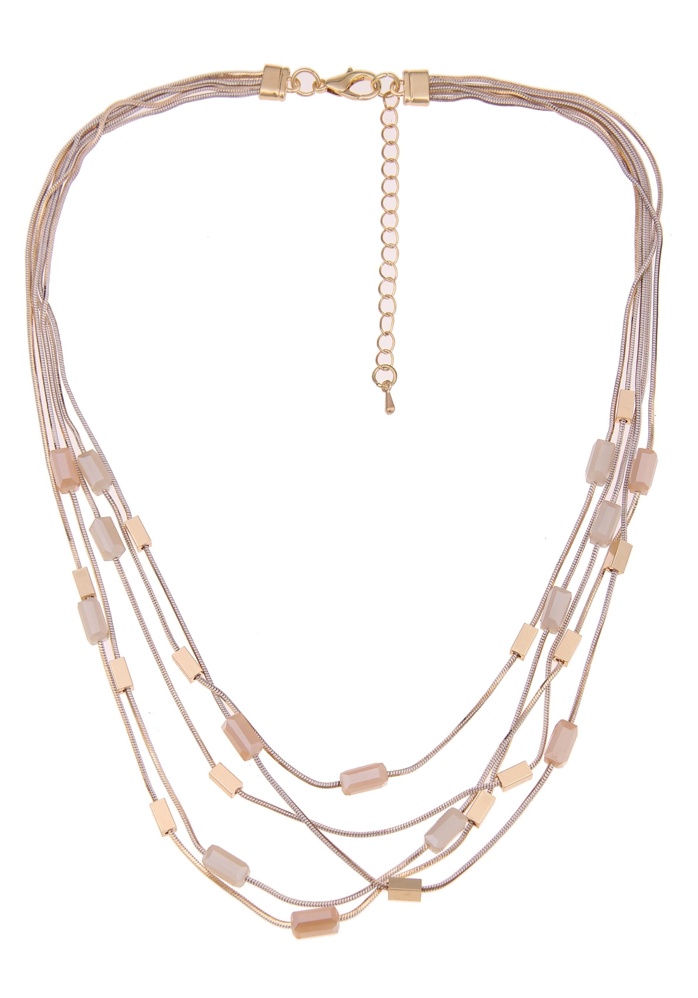 Leslii collier »Glasstenen in Gold Beige, 210117020« online kopen op otto.nl