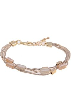 leslii armband »glasstenen in goudkleur beige, 260117020« goud