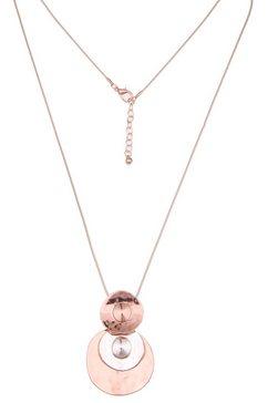 leslii ketting met hanger »bicolour glazen in zilverkleur-lichtpink, 220117001« roze