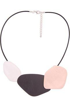 leslii ketting met hanger »tricolour-look in zwart zilver lichtpink, 210117194« zwart